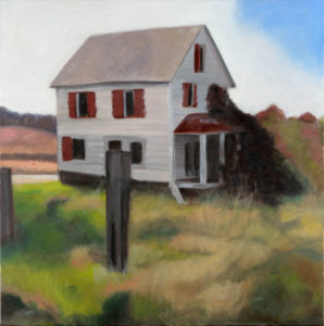 "Time to Cut the Grass, 2008 | 24"" x 24"", Oil on Canvas"