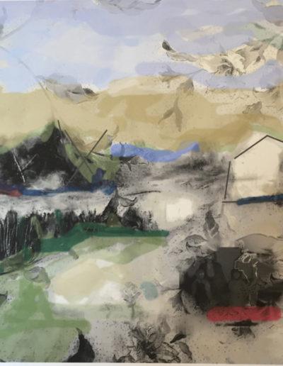 """Campsite II"", 2015, gouache on archival paper, 13x8"""