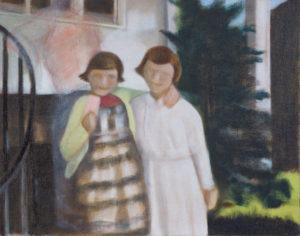 "Chrissey & Sara, 2011   11"" x 14"", Oil on Panel"