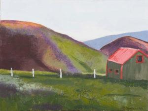 "Eline and Jon's Sheep Barn, 2003 | 12"" x 16"" Oil on Canvas"