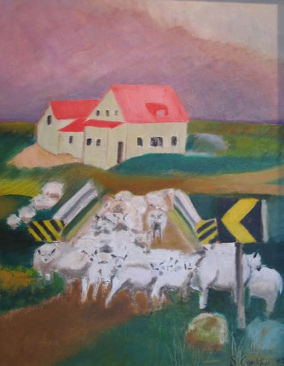 """Heading for the Highlands, 2004   20"""" x 16"""" Oil on Canvas"""