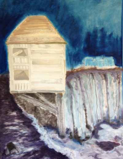 "House with Mini Houses, 2014 | 30"" x 24"" Gouache, graphite, oil stick"