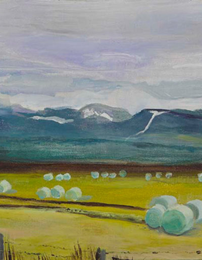 "Icelandic Haybales, 2003 | 12"" x 16"" Oil on Canvas"