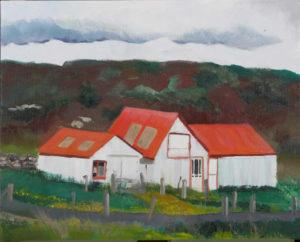"Icelandic Sheep Barn #6, 2008 | 36"" x 24"" Oil on Canvas"