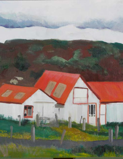 "Icelandic Sheep Barn #6, 2008 | 36"" x 24"" Oil on Canvas"
