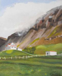 "Icelandic Valley Farm, 2003 | 20"" x 16"" Oil on Canvas"