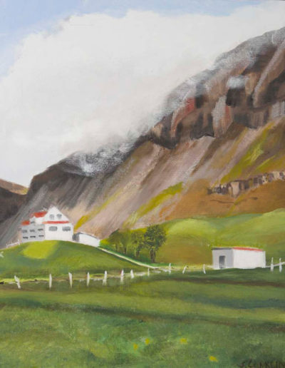 "Icelandic Valley Farm, 2003 | 20"" x 16"" Oil on Canvas"