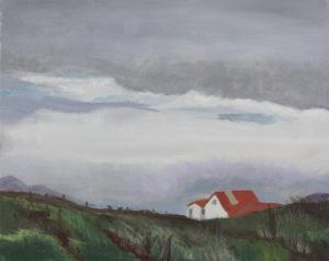 "Icelandic Sheep Barn, 2004 | 16"" x 20"" Oil on Canvas"