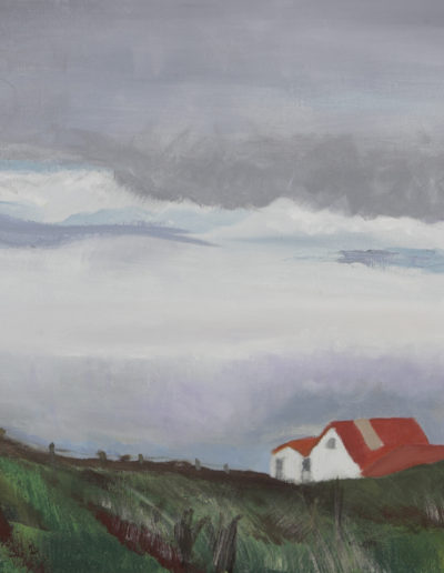 "Icelandic Sheep Barn, 2004 | 16"" x 20"" Oil on Canvas"