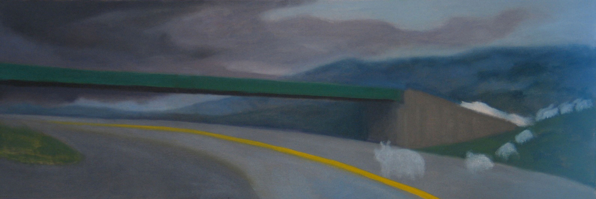 "Jaywalking, 2009 | 12"" x 36"" Oil on Canvas"