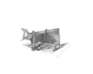 "Mitre Box I, 2012 | 8""x10"", Archival Pigment Print"