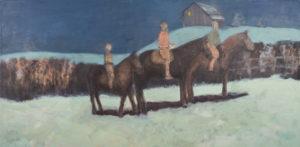 """Moonlight Ride"", 2013 | 24"" x 48"" Oil on Linen"