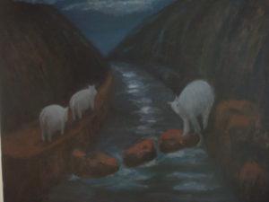 "Night Wandering, 2009   24"" x 30"" Oil on Canvas"