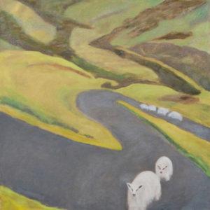"Sleep Walking, 2009 | 30"" x 30"" Oil on Canvas"