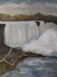 "American Falls, 2014 | 12"" x 9"" Oil on Panel"